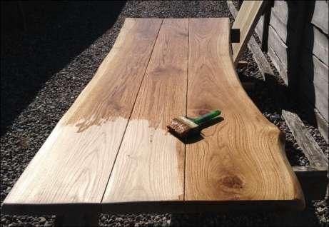 Massivt plankebord i egetræ